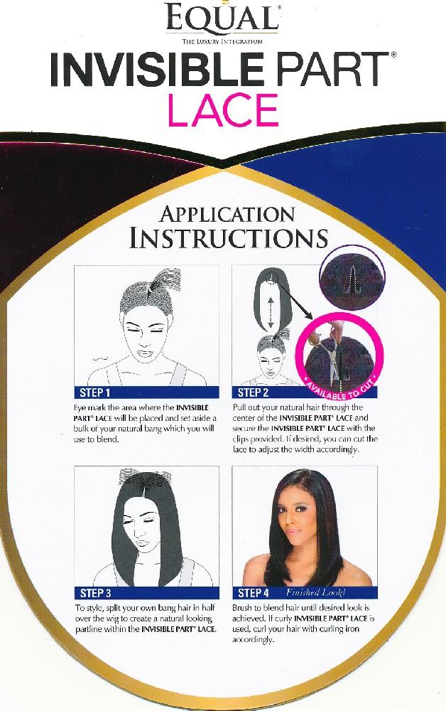 Instructions de pose de perruques Invisible Part Lace